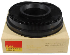 Kodak-Transvue-140-Count-Carousel-Slide-Projector-Tray-With-Booklet