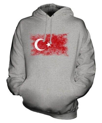 Turquie Drapeau Délavé Sweat à Capuche Unisexe Haut Turkiye Football Cadeau