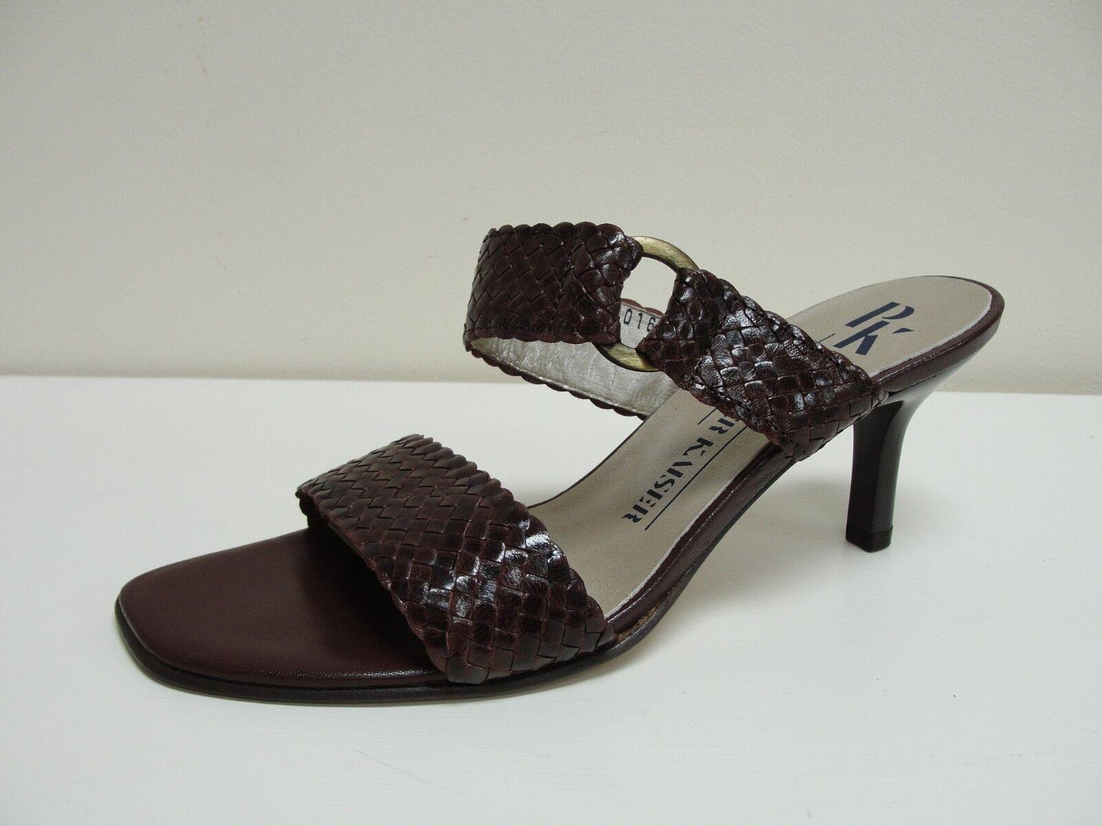 Peter Kaiser Lagune brown leather mules, UK 4.5/EU 37.5, RRP £75 ,BNWB