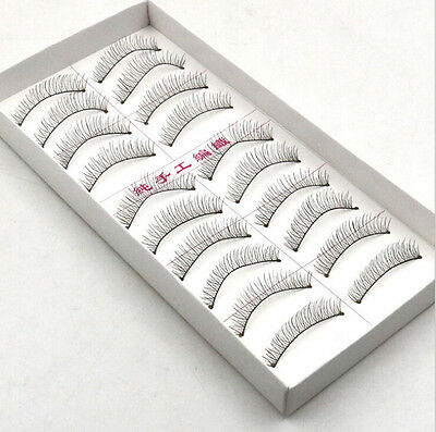 10 Pairs New Makeup Handmade Soft Fashion Short False Eyelashes Eye Lashes