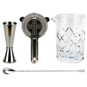 NEW-Old-Fashioned-Cocktail-Kit-Bar-Set-Drinks-Alcohol-Hawthorn-Strainer-Yarai