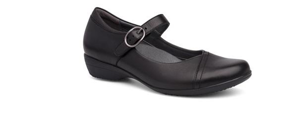 Dansko Fawna Negro Molido Mary mujer Jane Comodidad Zapato mujer Mary Talla 3642/Nuevo 1283aa