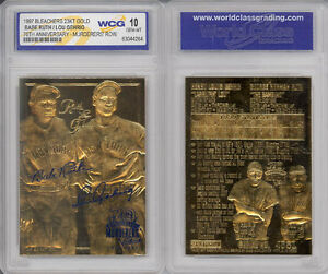 YANKEES-MURDERERS-039-ROW-BABE-RUTH-LOU-GEHRIG-23KT-GOLD-CARD-GEM-MINT-10