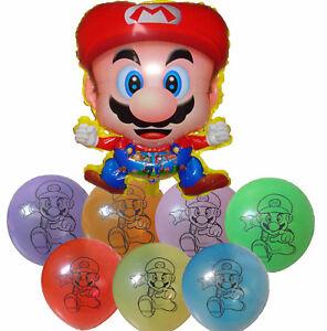 Super Mario Bros Balloon Birthday Party Bag Gift Centerpiece