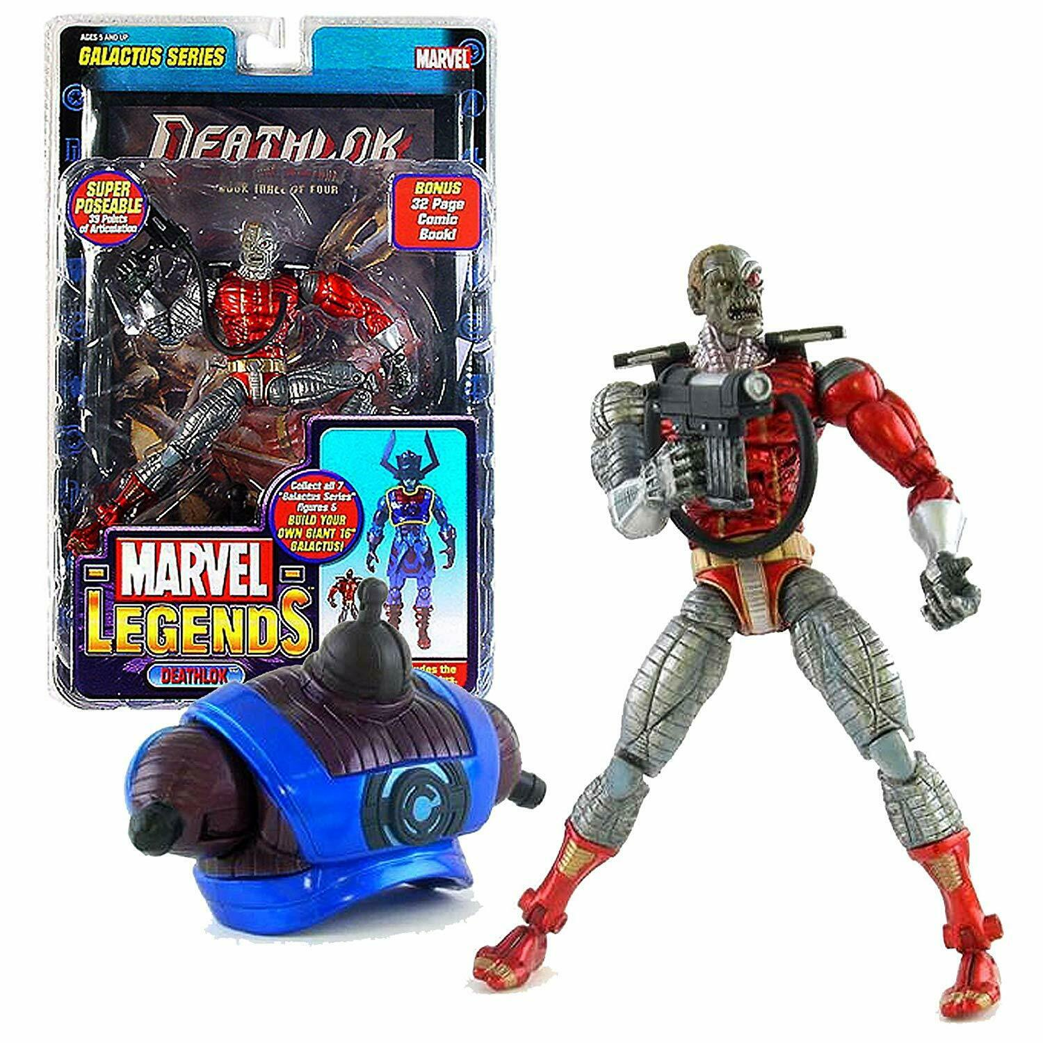 Marvel Legends Deathlok Galactus Series Toy Biz 6  Action Figure