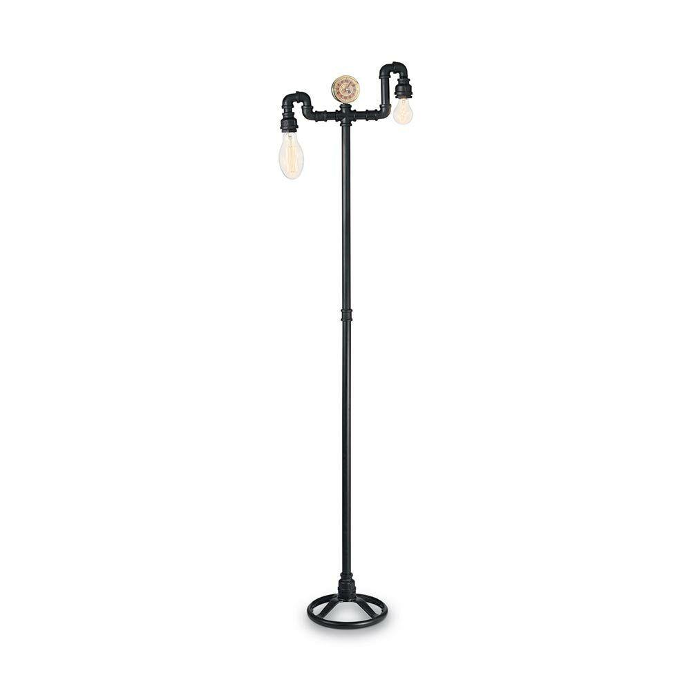 forma unica Ideal Lux 136721 Plumber Piantana Lampada tubi tubi tubi in metallo 161cm Nero Retro-Lampada  la migliore moda