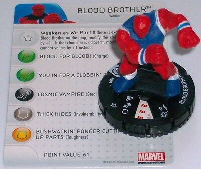 Espressive Sangue Brother #007 Galactic Guardians Marvel Heroclix