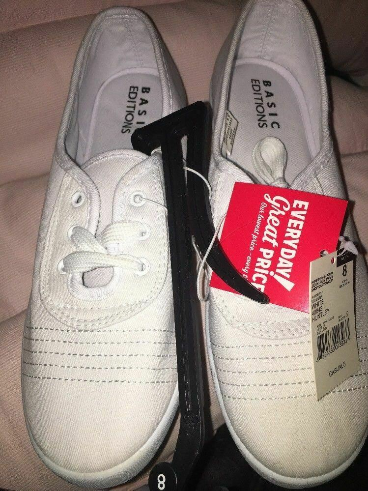 Basic Editions Taille 8 Chaussures Blanches