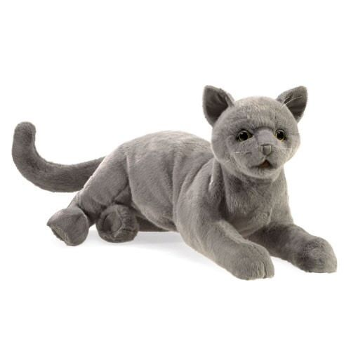 PURRING CAT PUPPET  NEW For 2018 USA  Folkmanis Puppets