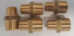 Set of 5 3//8BSP to 1//8BSP Nickel Brass Reducing Fitting