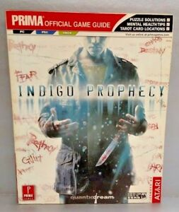 Indigo Prophecy  PRIMA Official Strategy Guide Book PS2 Playstation 2 pc xbox