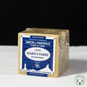 Savon de Marseille Cube 400g Pur Végétal Marius Fabre