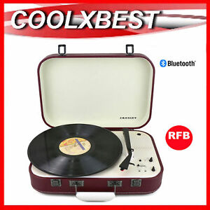 CROSLEY-COUPE-BLUETOOTH-TURNTABLE-3-SPEED-PITCH-CONTROL-CABERNET-RED-RFB