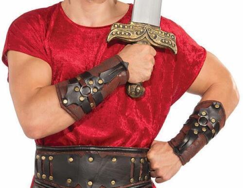 Roman Gladiator Adjustable Arm Guards Costume Accessory