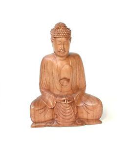 Buddha Legno Figura Scultura Statua Gluecksbringer Meditations Pregare Budhismus