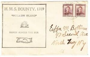 Pitcairn-Island-NEW-ZEALAND-POSTAL-AGENCY-SG-Z60-pair-INDISTINC-DATE-H-M-S