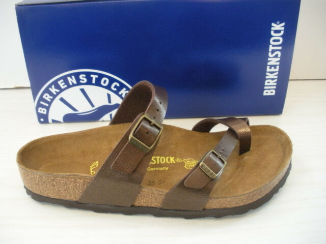 430aac771fb5 Birkenstock Mayari R Leather Womens Thong Sandals Toffee 38 M for ...