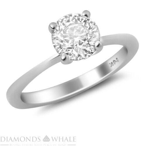 0.5 CT Diamond Ring VS1 E Round White gold 18K Engagement Bridal Ring Enhanced