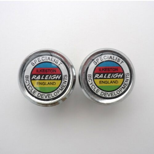 Vintage Style Raleigh SBDU Caps Specialist Bicycle Development Unit Bar Plugs
