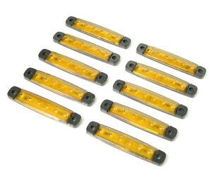 2 X 12v Led Weiß Heck Seitliche Begrenzungsleuchte für Transporter Lkw Anhänger
