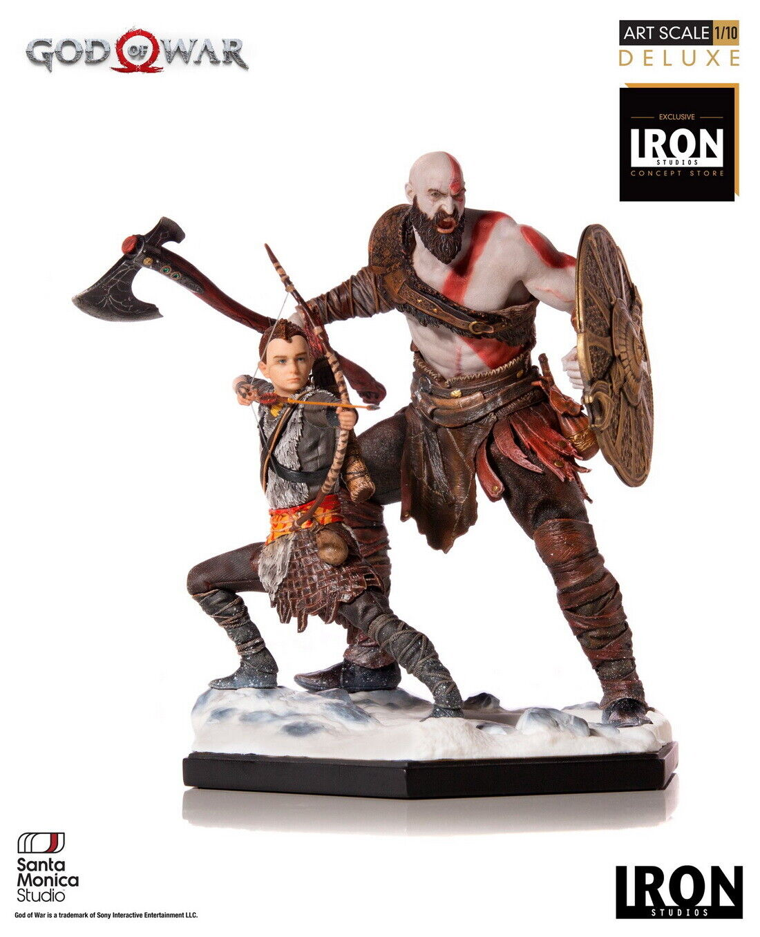 Iron Studios God of War 4 Kratos and Atreus Deluxe Art Scale 1/10 Statue on eBay thumbnail