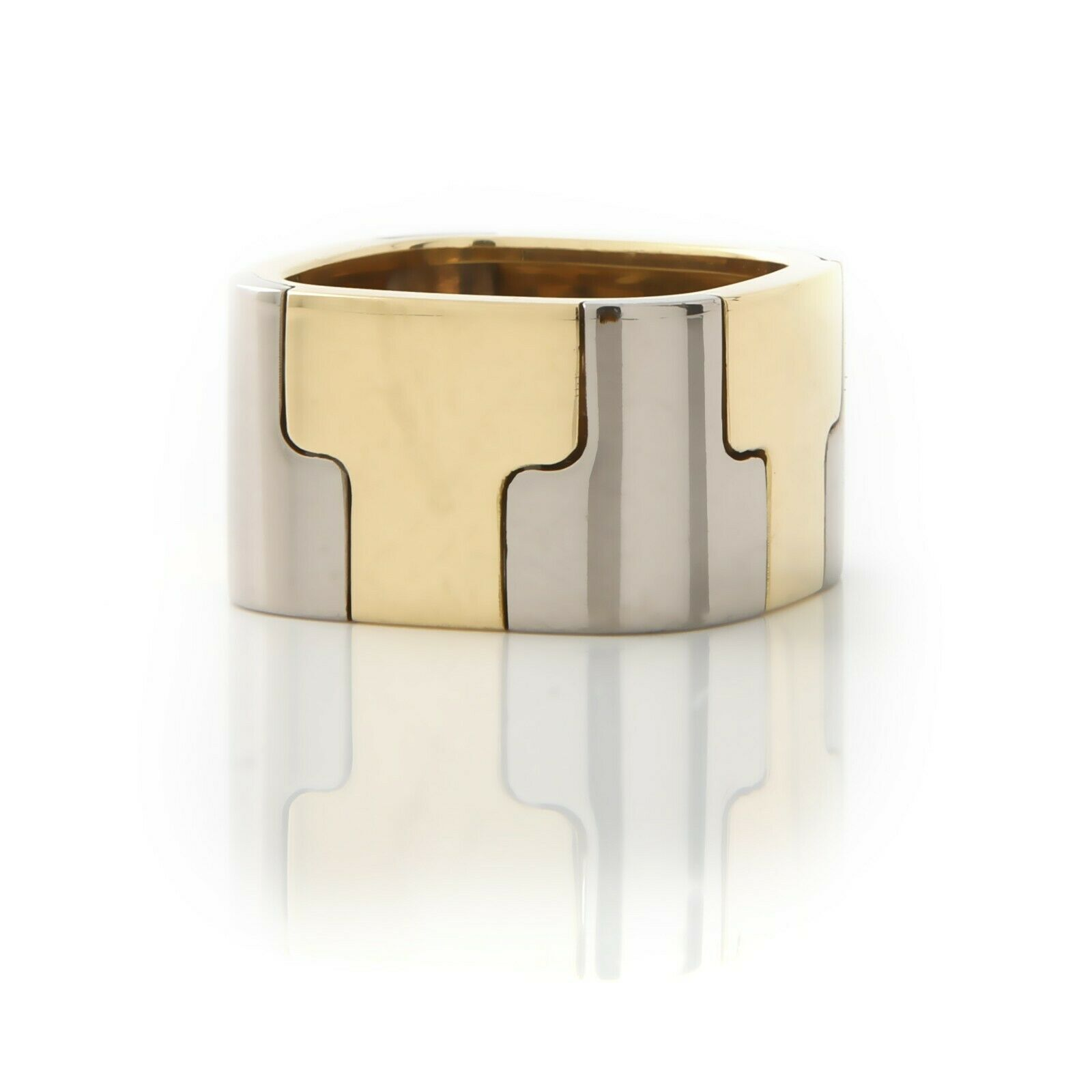 Gubelin, Contemporary, Wide 18k,Two-Tone Band - image 1