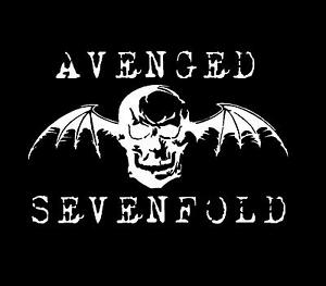1-x-Avenged-Sevenfold-sticker-30cm-long-WHITE-decal-heavy-metal-band-car-window
