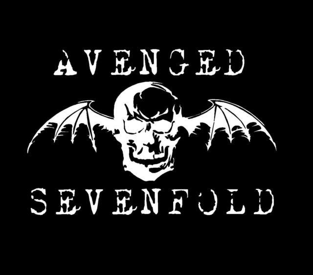 1 x Avenged Sevenfold sticker 30cm long WHITE decal heavy metal band car window