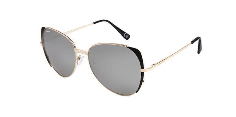 Brillen Sonnen- POLAR JOLIE 1 76 B Matt Schwarz Golden Spiegel Silber | Maßstab ist der Grundstein, Qualität ist Säulenbalken, Preis ist Leiter