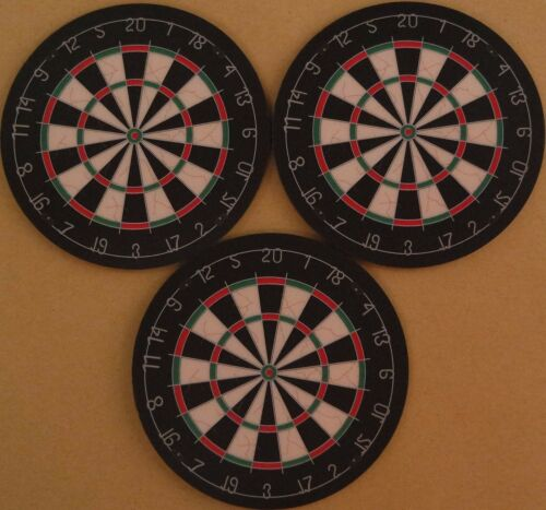 Three Dartboard Coasters