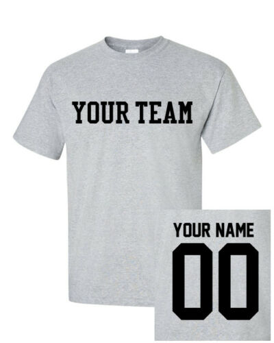 Custom TODDLER T-Shirt JERSEY Personalized ANY COLOR Name Team Baseball Football
