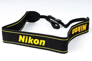 Nikon-1-5-034-Black-Yellow-Printed-034-Nikon-034-Neck-Strap