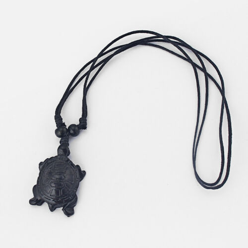 Wholesale 12pcs Faux Yak Bone Black Sea Turtle Pendant Necklace Adjustable