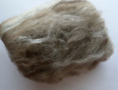 non teint naturel UK laine alpaga feutre Brown Loup Chien Animal Mélange Laine cardée BATT