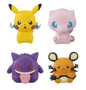 Set-4-pcs-Pokemon-Figure-Bandai-Capchara-Gashapon-3-Pikachu-Mew-Gengar-Dedenne