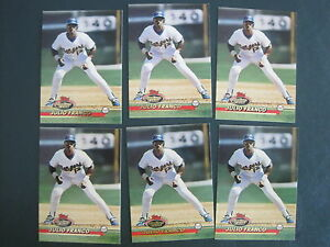 Details About Julio Franco Baseball Card Lot 1993 Topps Stadium Club 651 6 Cards Rangers