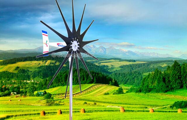2500 W WindZilla PMA 12 V AC 12 Blade Wind Turbine Generator + 2 Bearings
