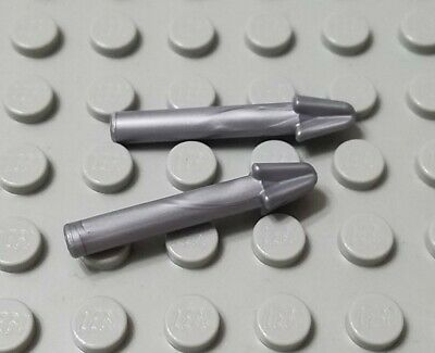 LEGO Lot of 4 Flat Silver Minifigure Spear Pike Castle Weapon Accessories