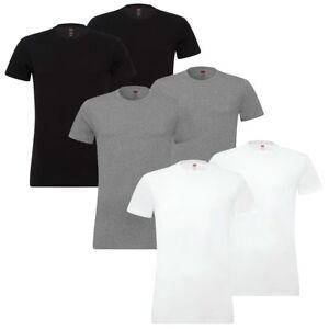 2-Lot-De-Levis-200SF-Ras-Du-Cou-T-Shirt-Hommes-Haut-Col-Rond