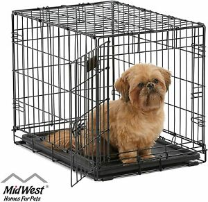 24-034-Midwest-iCrate-Small-Pet-Dog-Metal-Cage-W-Single-Door-Folding-Kennel-Crate