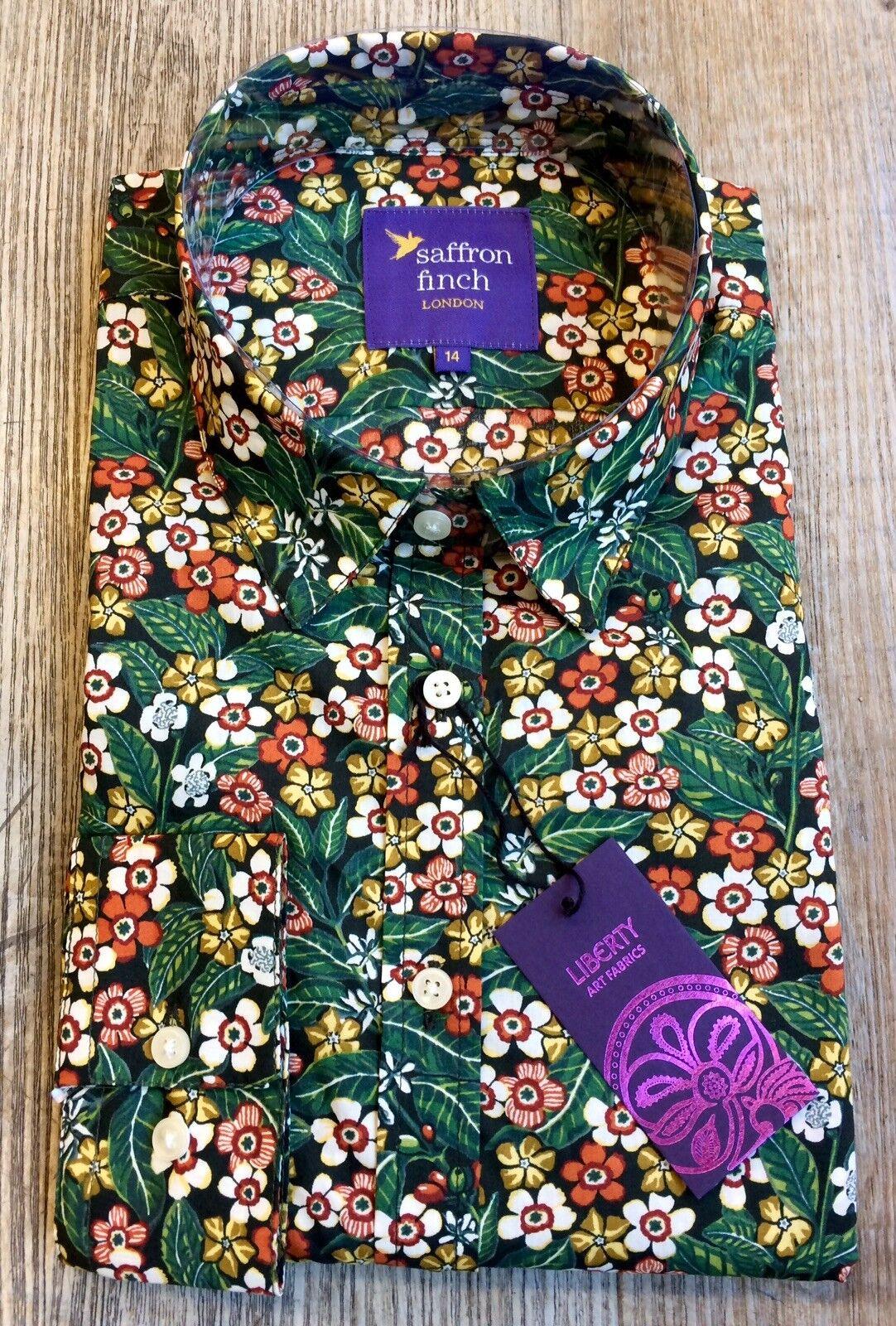 New damen Liberty Print LIMITED EDITION MariGold Floral Shirt By Saffron Finch.