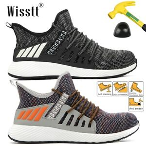 Men-Women-Steel-Toe-Casual-Breathable-Shoe-Sport-Walking-Athletic-Sneaker-Tennis