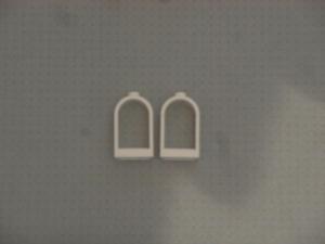 Lego - GMT209 2 White Round Top Windows 30044