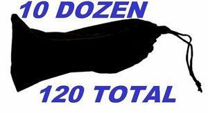 Wholesale-Lot-10-dozen-120-total-Black-Sunglasses-Carrying-Pouch-Case-Cleaner