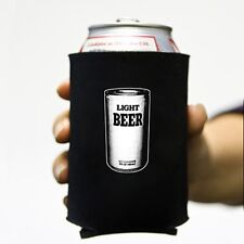 """""""Light Beer"""" Can Neoprene Koozie Koolie Cooler Insulator Soda Funny Party meta"""