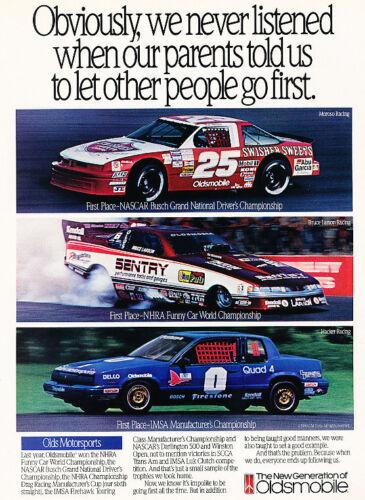 1991 Oldsmobile Calais NASCAR SCCA Race Classic Vintage Advertisement Ad H06