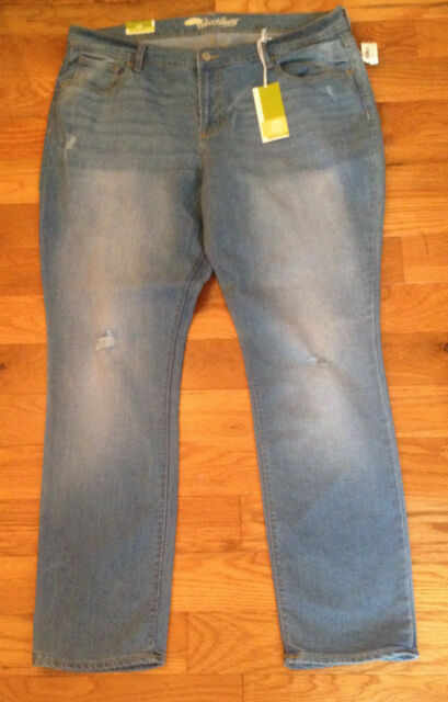 NWT Old Navy the Sweetheart DESTRUCTED SKINNY Jeans Womens size 16 659539e13