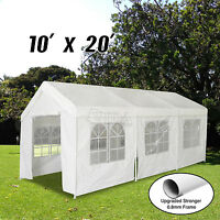 Patio 10x20 Feet Heavy Duty Garage Outdoor White Carport Car Shelter Canopy Tent