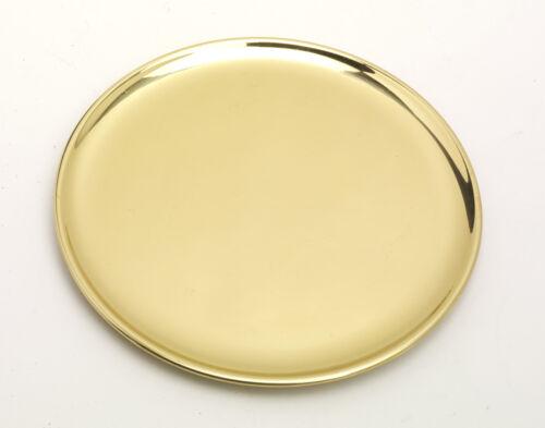 Kerzenteller Dekoteller Messing Gold poliert Ø 19 cm ideal für Kerzen