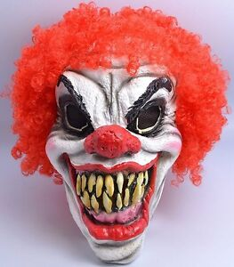 image is loading fancy dress scary clown mask halloween horror accessory